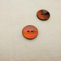 【丸型(染めボタン)】黒蝶貝 貝ボタン#00104 2穴15mm C/#RED