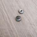 【丸型(デザイン キャッツアイ)】黒蝶貝ボタン#bt037 2穴11.5mm