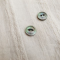 【丸型(デザイン キャッツアイ)】黒蝶貝ボタン#bt038 2穴11.5mm