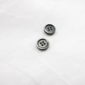【厚みのある形(シャツ用 2.5mm厚)】黒蝶貝ボタン#uramigaki25 4穴9mm TAKASHIMAオリジナルモデル