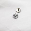 【厚みのある形(シャツ用 2.5mm厚)】黒蝶貝ボタン#uramigaki25 4穴10mm TAKASHIMAオリジナルモデル