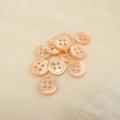 【丸型(染めボタン)】高瀬貝 貝ボタン#00017 4穴11.5mm C/#apricot