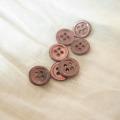 【丸型(染めボタン)】高瀬貝 貝ボタン#00017 4穴11.5mm C/#dark chocolate
