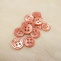 【丸型(染めボタン)】高瀬貝 貝ボタン#00017 4穴11.5mm C/#framboise