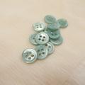 【丸型(染めボタン)】高瀬貝 貝ボタン#00017 4穴11.5mm C/#pistachio