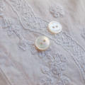 【丸型(定番 縄目)】白蝶貝ボタン#00220 2穴10mm
