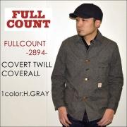 """FULLCOUNT フルカウント、""""2894""""、COVERT TWILL COVERALL、コバートツイルカバーオール [アウター]"""