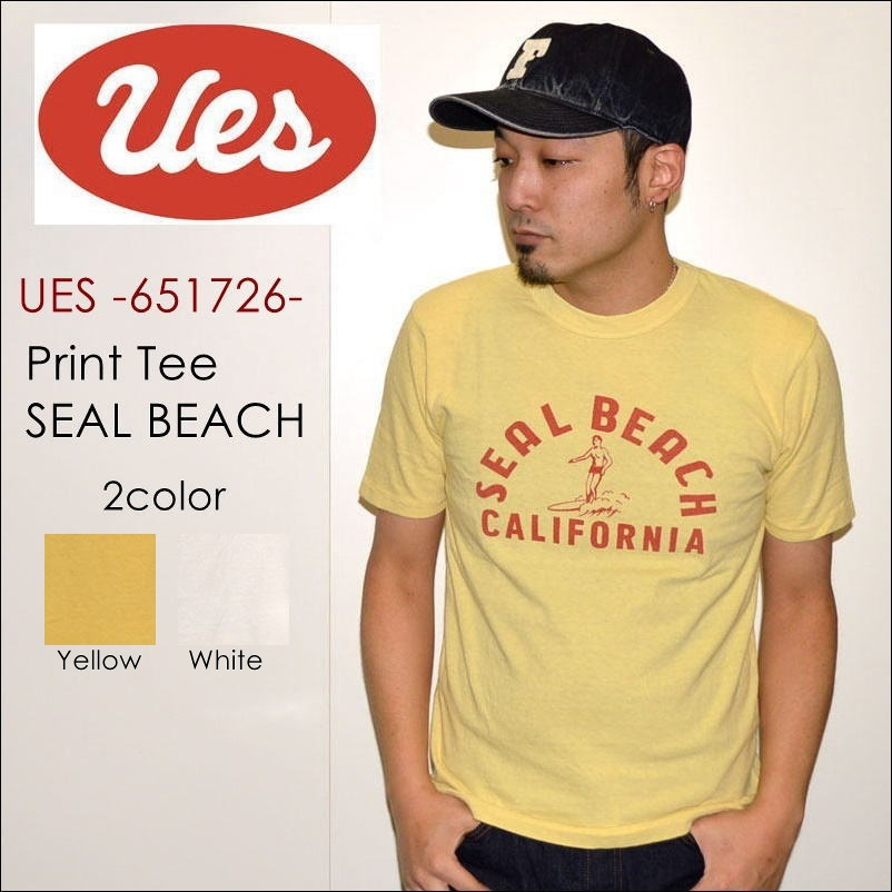 "UES ウエス、""651726""、SEAL BEACH Tシャツ [S/STee]"