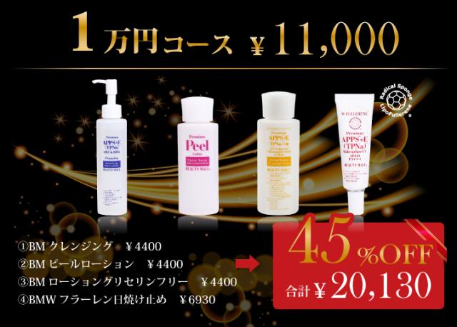 スペシャル美肌実感セット 人気商品をこの機会に!1万円コース