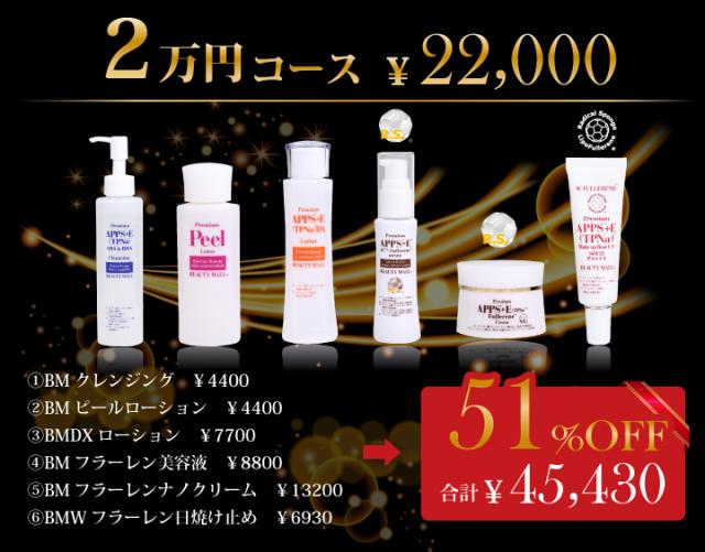 スペシャル美肌実感セット 人気商品をこの機会に!2万円コース