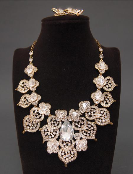 花モチーフアラビック装飾なアクセサリーセット1 ミラーナベリーダンス衣装