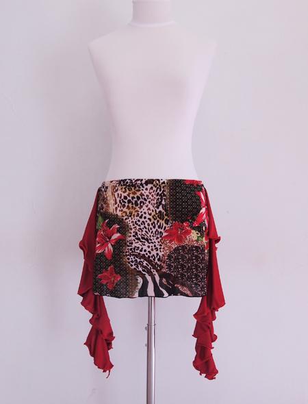 ワイルドアニマルヒップスカーフ1 ミラーナベリーダンス衣装