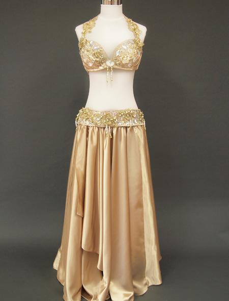 ゴールドベリーダンス衣装1 全身