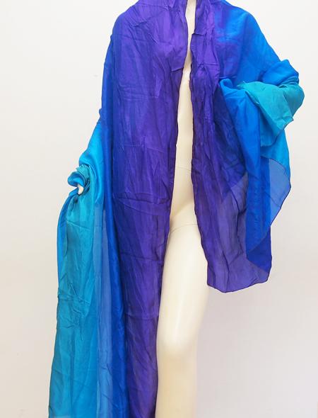 紫青ベール ミラーナベリーダンス衣装