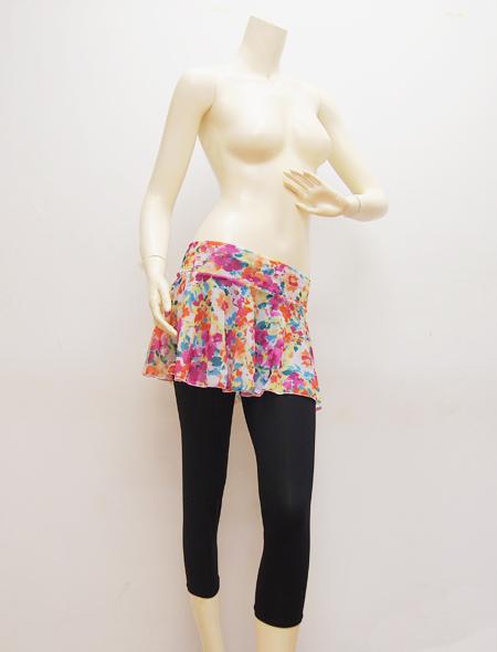 花柄スカート ミラーナベリーダンス衣装