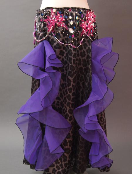 黒ヒョウ衣装3 ミラーナベリーダンス衣装
