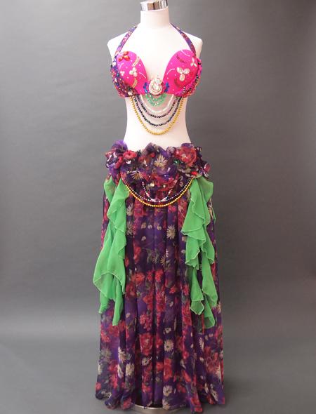 ピンク紫ベリーダンス衣装1 ミラーナ