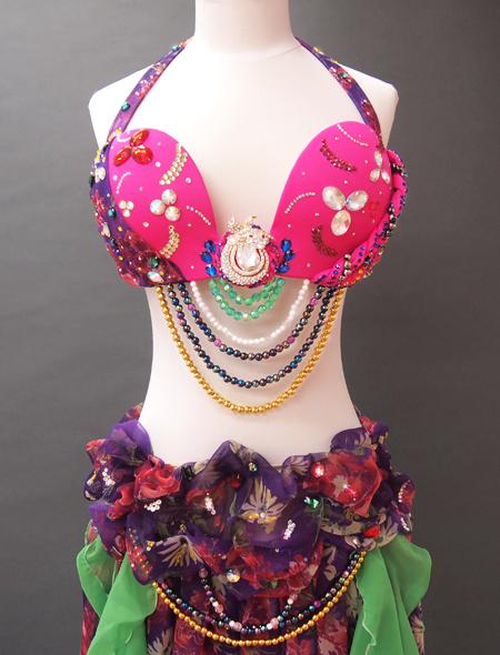 ピンク紫ベリーダンス衣装2 ミラーナ