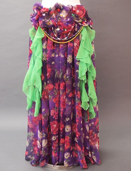ピンク紫ベリーダンス衣装3 ミラーナ