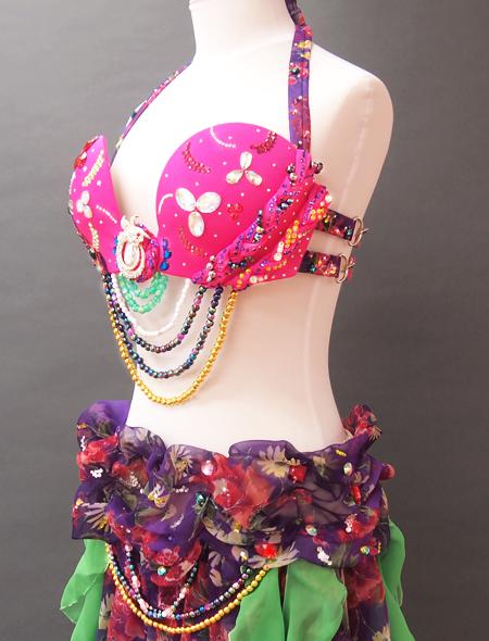 ピンク紫ベリーダンス衣装4 ミラーナ