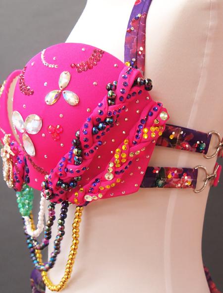 ピンク紫ベリーダンス衣装5 ミラーナ