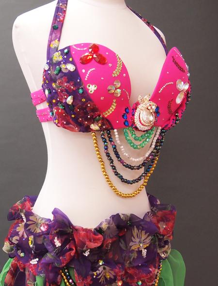 ピンク紫ベリーダンス衣装7 ミラーナ