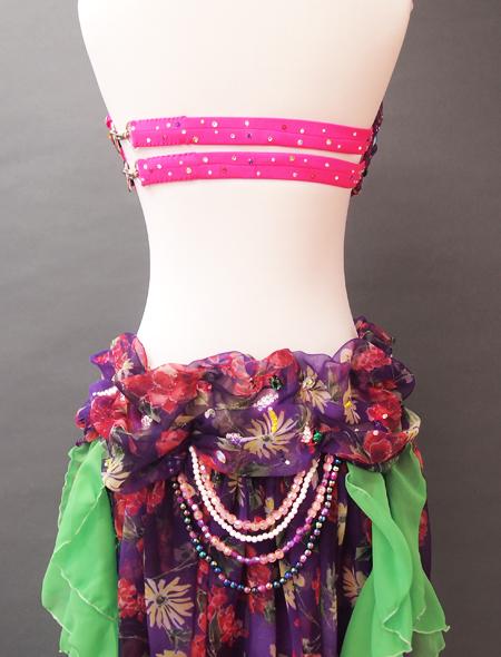 ピンク紫ベリーダンス衣装8 ミラーナ