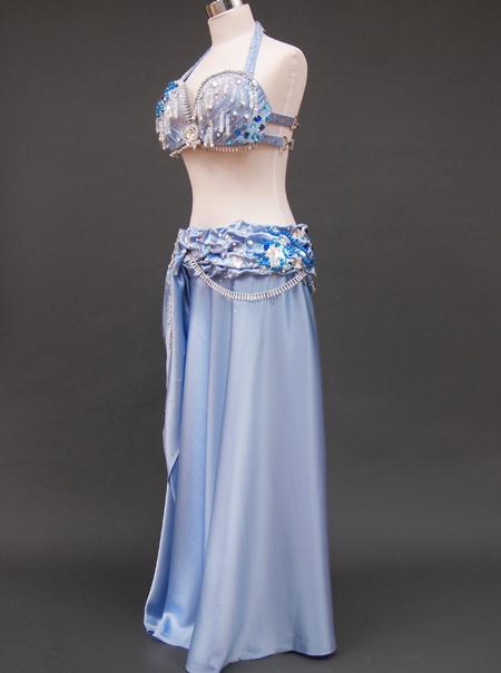 光沢ブルー衣装4 ミラーナベリーダンス