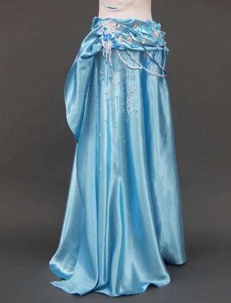 薄いブルーのベリーダンス衣装3 ミラーナ