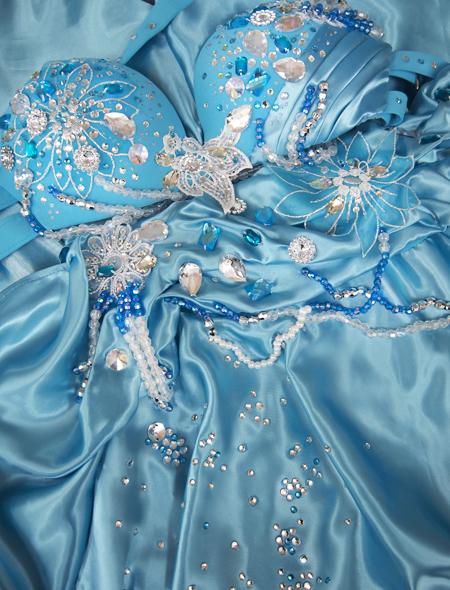 薄いブルーのベリーダンス衣装7 ミラーナ