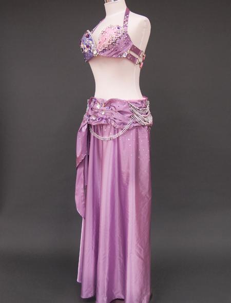 ピンクパープルベリーダンス衣装8 ミラーナ