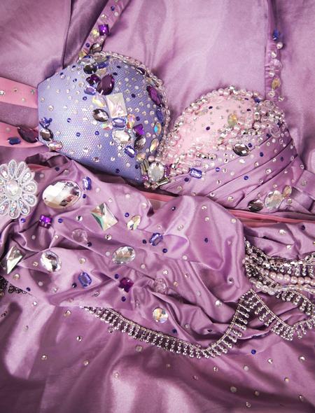 ピンクパープルベリーダンス衣装9 ミラーナ