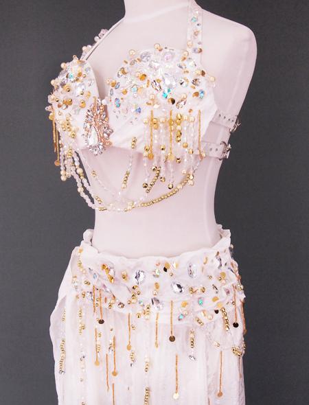 ホワイトベリーダンス衣装4 ミラーナ