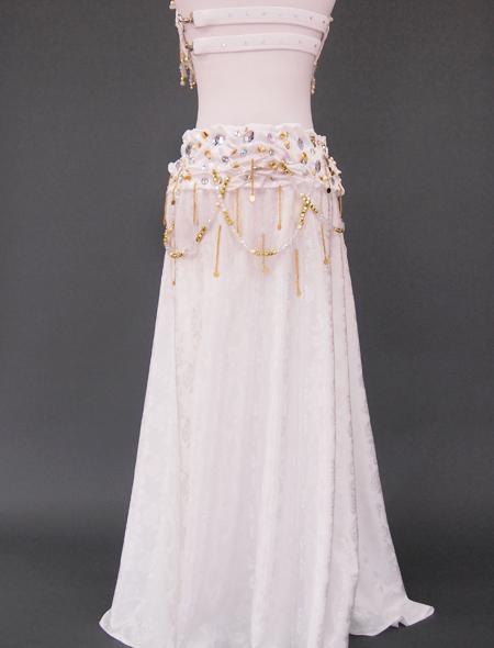 ホワイトベリーダンス衣装6 ミラーナ