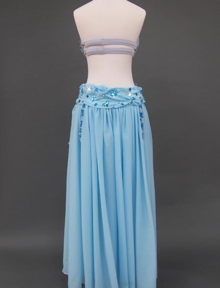 ブルー花のベリーダンス衣装8 ミラーナ