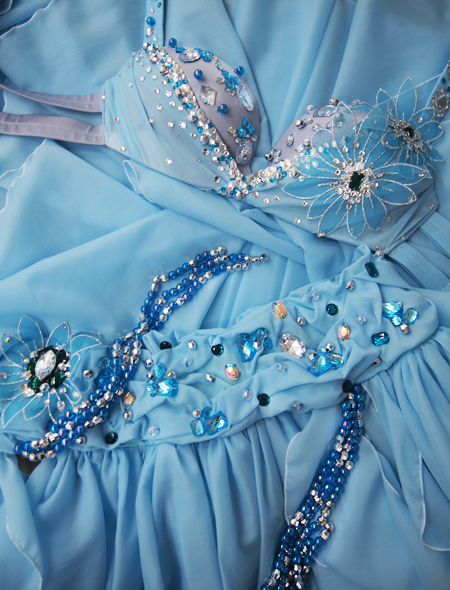ブルー花のベリーダンス衣装9 ミラーナ