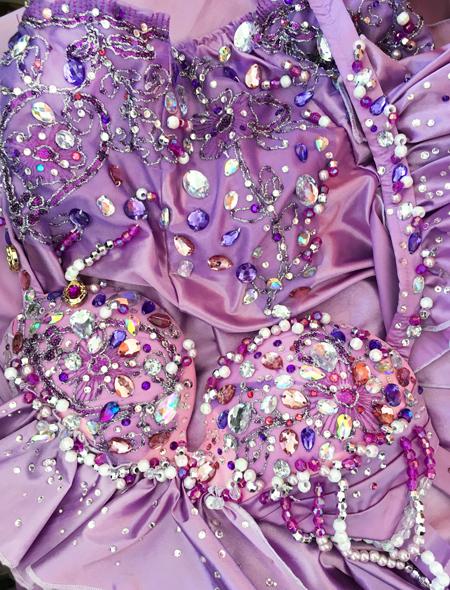 ピンクパープル ベリーダンス衣装10 ミラーナ