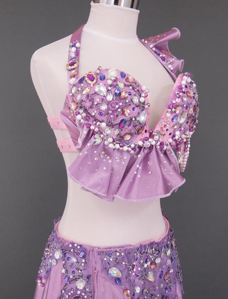 ピンクパープル ベリーダンス衣装6 ミラーナ