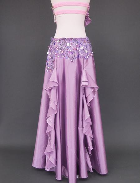 ピンクパープル ベリーダンス衣装8 ミラーナ