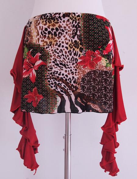 ワイルドアニマルヒップスカーフ2 ミラーナベリーダンス衣装イルドアニマルヒップスカーフ1 ミラーナベリーダンス衣装