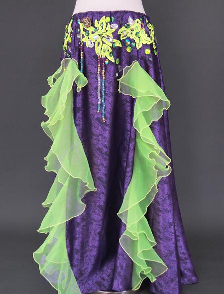 パープルグリーンベリーダンス衣装3 ミラーナ