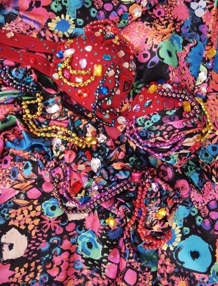 カラフル花柄ベリーダンス衣装1 ミラーナ