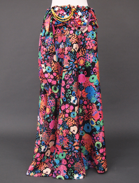 カラフル花柄ベリーダンス衣装4 ミラーナ