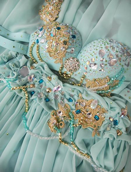 ミントグリーン2_7 ミラーナベリーダンス衣装