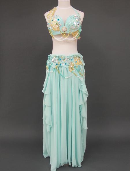 ミントグリーン2_2 ミラーナベリーダンス衣装