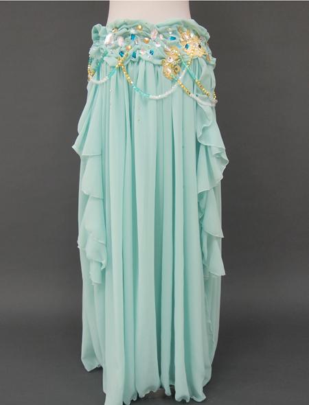 ミントグリーン2_3 ミラーナベリーダンス衣装