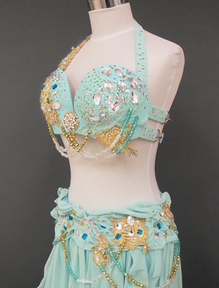ミントグリーン2_4 ミラーナベリーダンス衣装