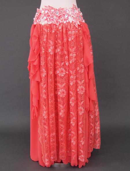 オレンジピンクベリーダンス衣装3 ミラーナ