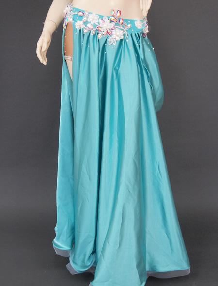 グリーンドレープ衣装3 ミラーナベリーダンス衣装