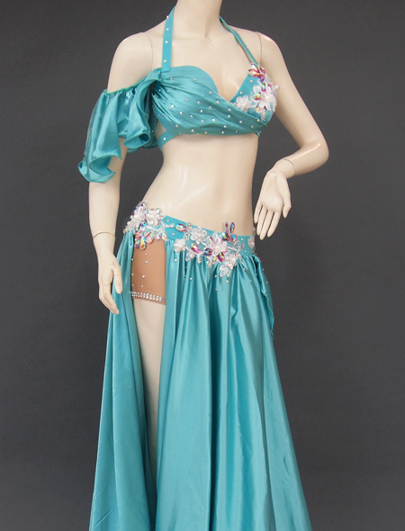 グリーンドレープ衣装5 ミラーナベリーダンス衣装